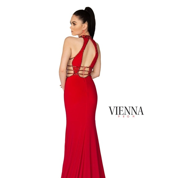 Vienna Prom Dresses | Authentic New Vienna 8403 Red Prom Gown | Poshmark